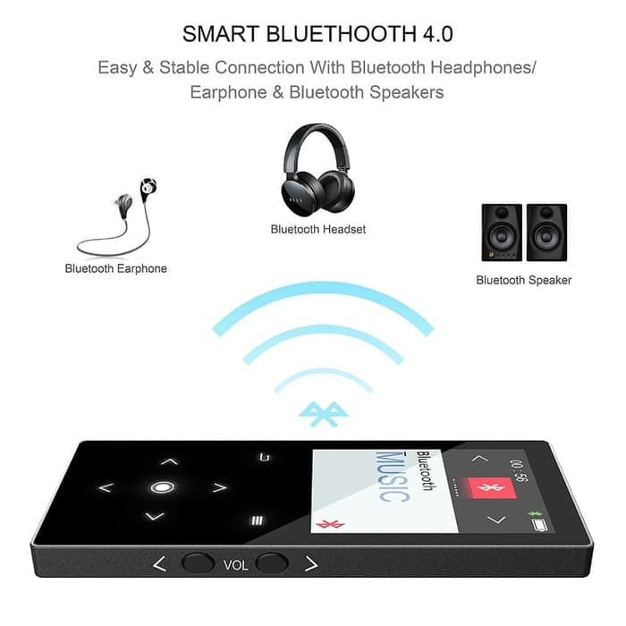harga Geruida bluetooth mp4 digital audio player lcd fm radio 16gb with mic Tokopedia.com