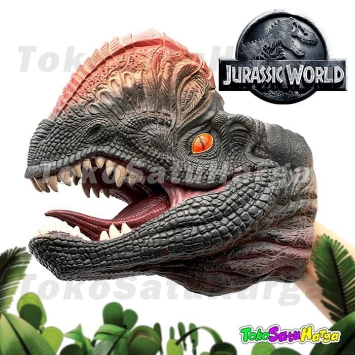 Foto Produk Kepala Dinosaurus Dilophosaurus Dino Head Hand Puppet Rubber Premium dari tokosatuharga