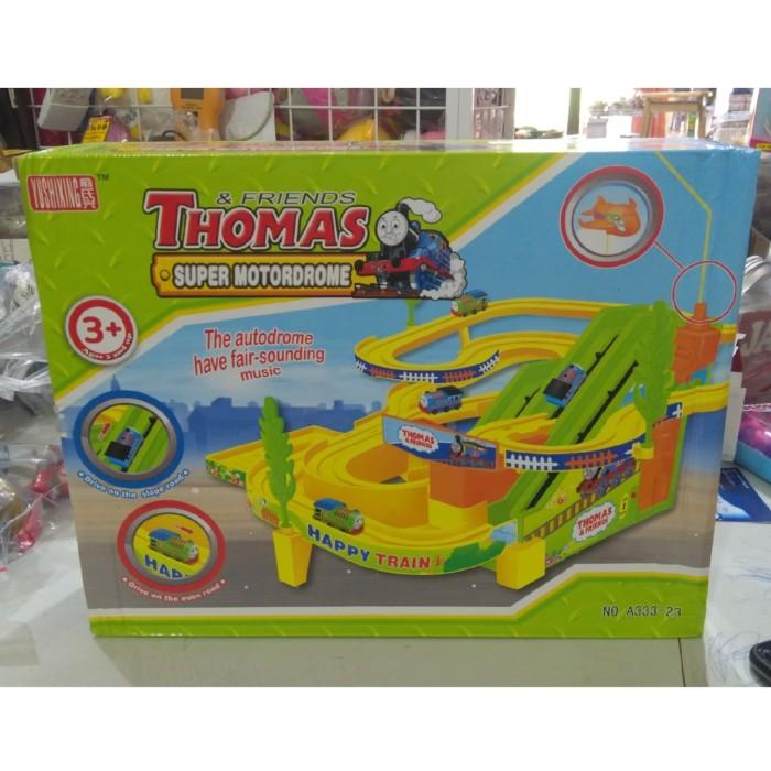 Mainan thomas n friends track racer seluncuran lintasan