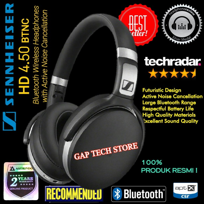 ecd15bef786 Sennheiser HD 4.50 BTNC Bluetooth Headphones with Noise Cancellation