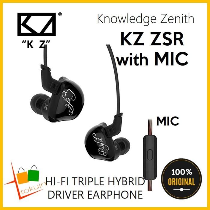 cac308b0c75 Knowledge Zenith KZ ZSR Earphone In Ear HiFi Triple Driver with Mic