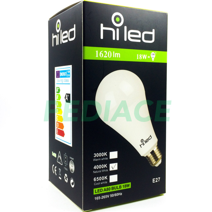 harga Lampu bohlam led hiled bulb 18w 18 watt natural white 4000k e27 1620lm Tokopedia.com