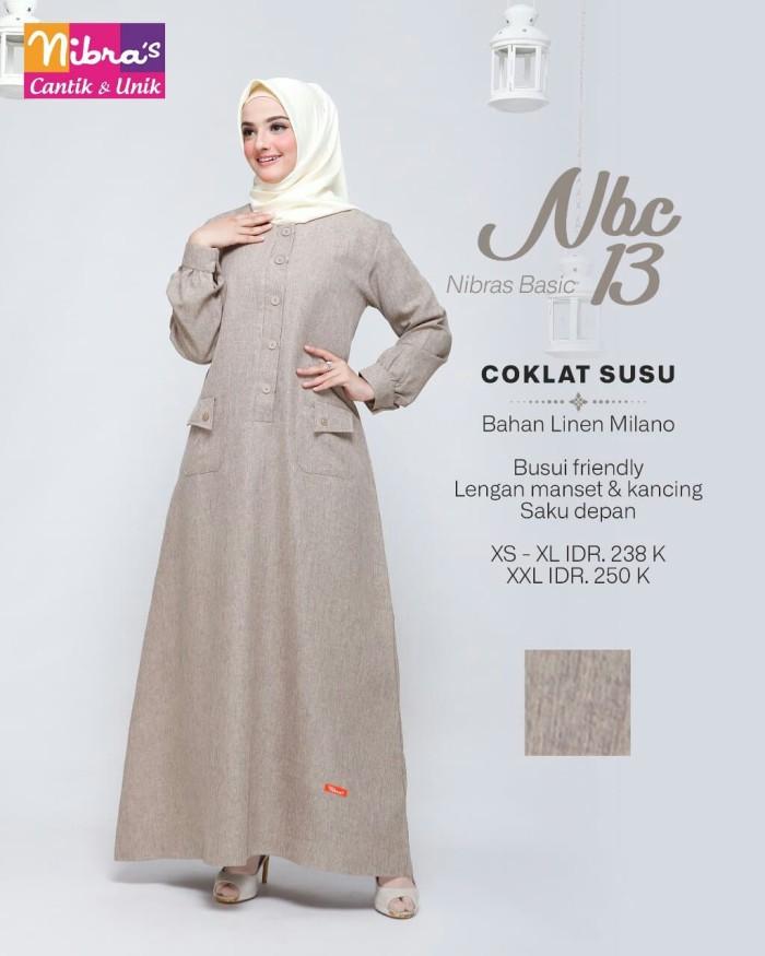 Jual Nibras Gamis Basic Nbc 13 Warna Coklat Susu Polos Bahan Linen Milano Kota Tangerang Selatan Hibban Online Shop Tokopedia