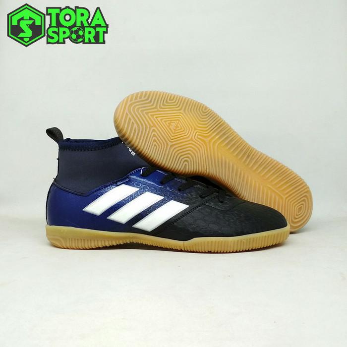 Foto Produk Sepatu Futsal Anak Adidas Ace Boot Navy Hitam List Putih Grade Ori dari ONO SPORT