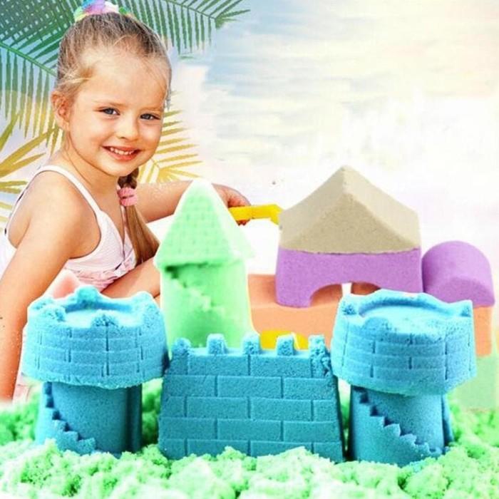 Mainan Pasir Ajaib Kinetik Play Sand Magic Sand Paket Lengkap Jumbo