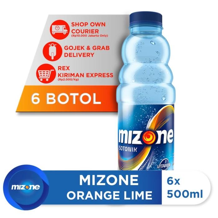 harga Mizone minuman isotonik bernutrisi orange lime 500ml (6 botol) Tokopedia.com