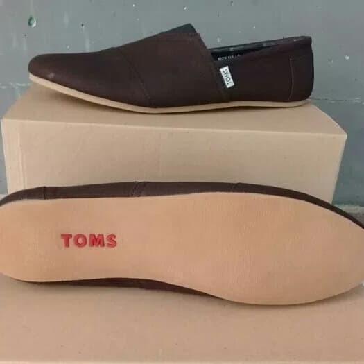 Jual Sepatu slip on toms coklat toms sepatu pria - sepatu murah ... 07468976ed