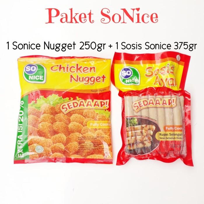 Paket Ekonomis /Paket So Nice 1 Nugget Ayam 250gr + 1 Sosis Ayam 375gr