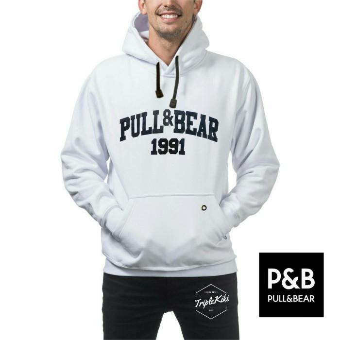 harga Jaket sweater hoodie putih pull and bear pria Tokopedia.com