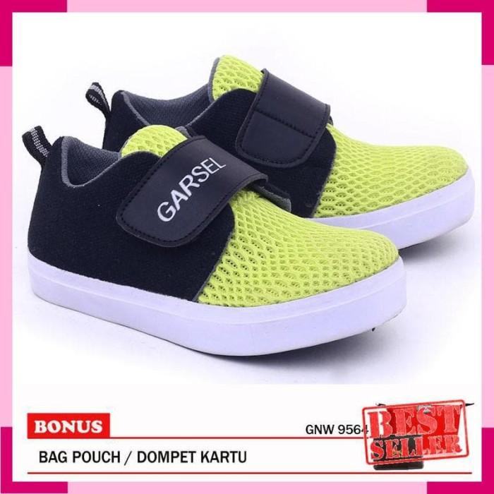 Garsel-Sepatu Anak Perempuan GNW 9564 Hijau Hitam