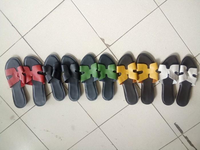Jual Sandal Hermes Wanita Flat Bahan Kulit Asli Garut Bdc - 01 ... 83b2ec6254