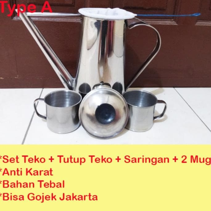 terlaris berkualitas good item Grosir Set Teko Thai Tea + 2 Mug +