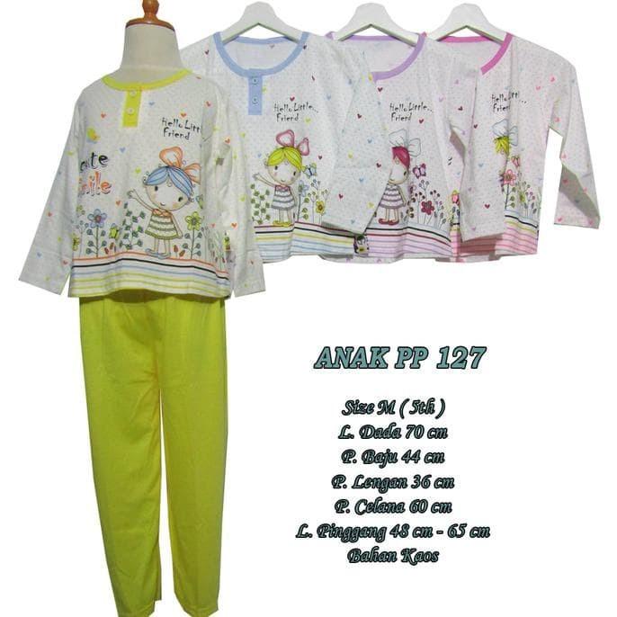 ... Motif Gajah untuk umur 4-7 Tahun - 134TK. Source · New Baju Tidur Anak Perempuan 5 Th Setelan Lengan Panjang Size M -