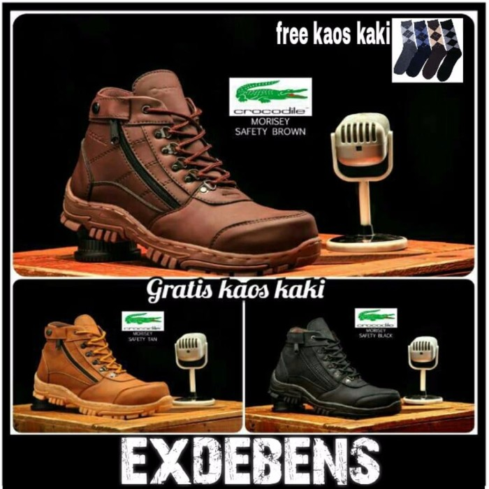 Jual sepatu pria boots crocodile morisey sepatu safety sepatu kerja ... f1309e9ced