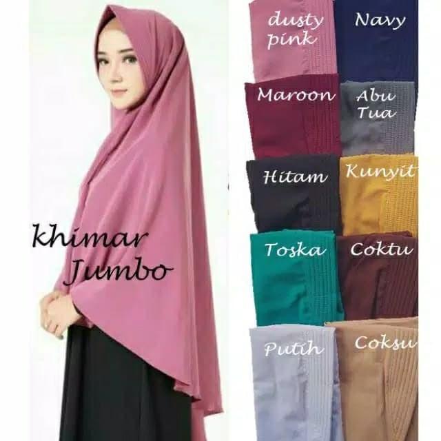 Foto Produk Hijab Khimar Jumbo Syari Jilbab Penguin Bergo Pet Antem dari Dhan'$hop