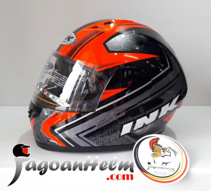 harga Ink helm cl1 shadow | black red fluo | original cl-1 Tokopedia.com