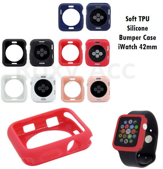 Foto Produk Softcase Casing Bumper Apple Watch 42mm Multicolour Silicone Case - Ungu dari Roxy Acc