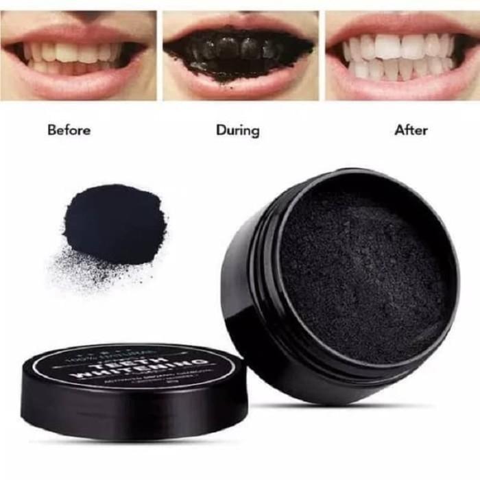 Jual Pemutih Gigi Paling Ampuh 100 Charcoal Teeth Whitening Powder
