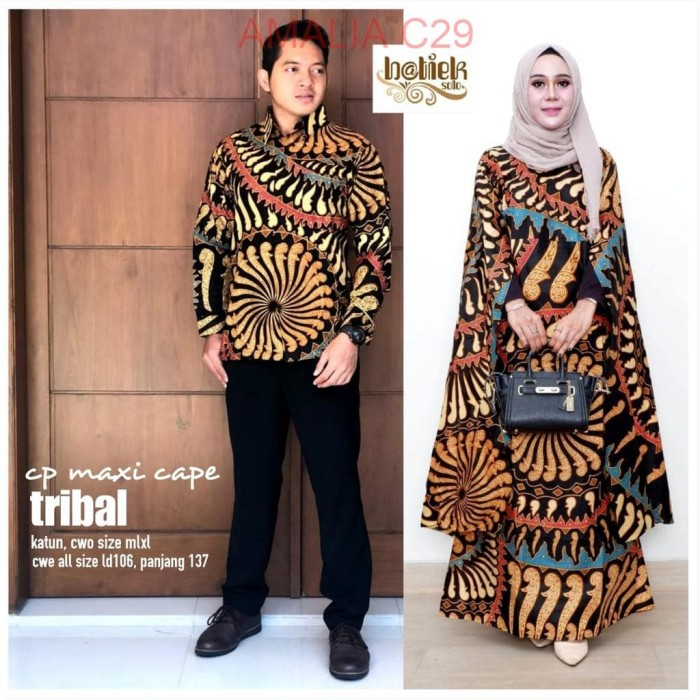Jual Baju Batik Couple Sarimbit Keluarga Kaftan Gamis Muslim Seragam Pesta Dki Jakarta Amalia Collection29 Tokopedia