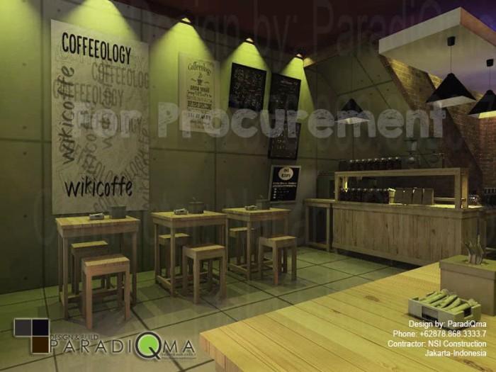 Jual Desain Ruko Coffe Shop Kedai Kopi Dengan Meeting Room 14m X