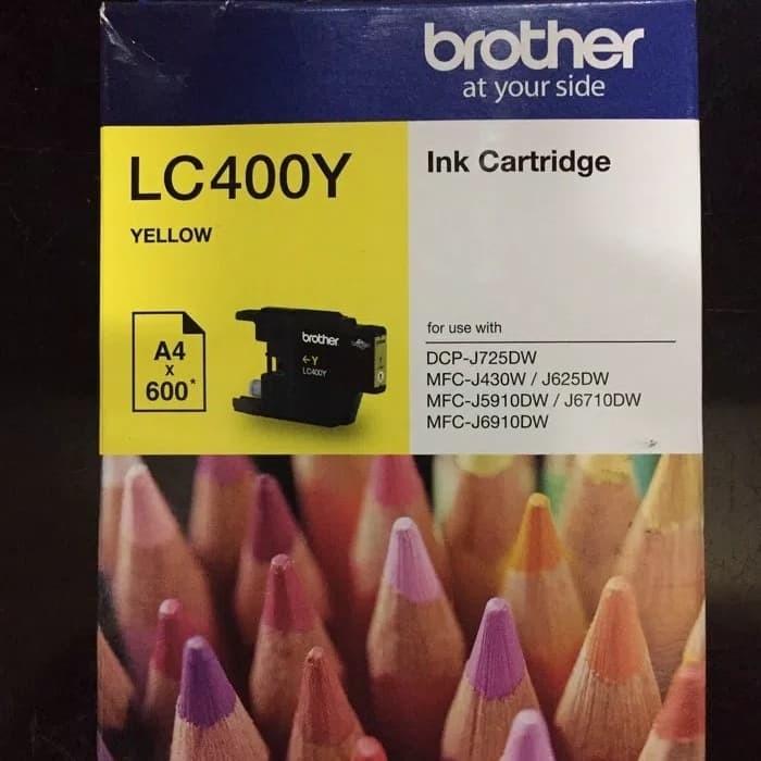 PAKET TINTA BROTHER LC-400 BLACK + COLOUR ORIGINAL