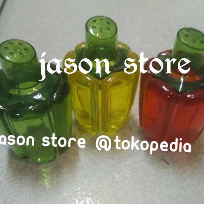 Botol lada, merica/Tempat lada, garam/tempat merica kaca bentuk unik