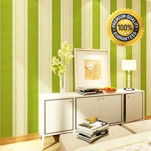 jual wallpaper sticker dinding motif garis salur hijau 10m high