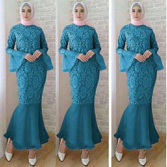Jual Set Kebaya Muslim Modern Terbaru Kebaya Pengantin Duyung Maxi Dress Dki Jakarta Zazakatidi Polyswarms Co Tokopedia