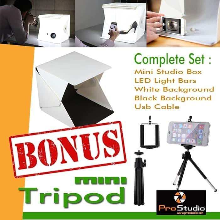 Foto Produk Mini Portable Studio Photo Box LED Foto Portabel photography dari mardisin