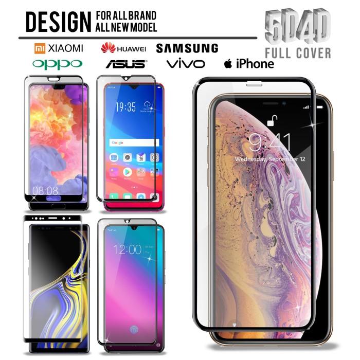 Full Cover Tempered Glass Semua Model Samsung, iPhone, Oppo, dll