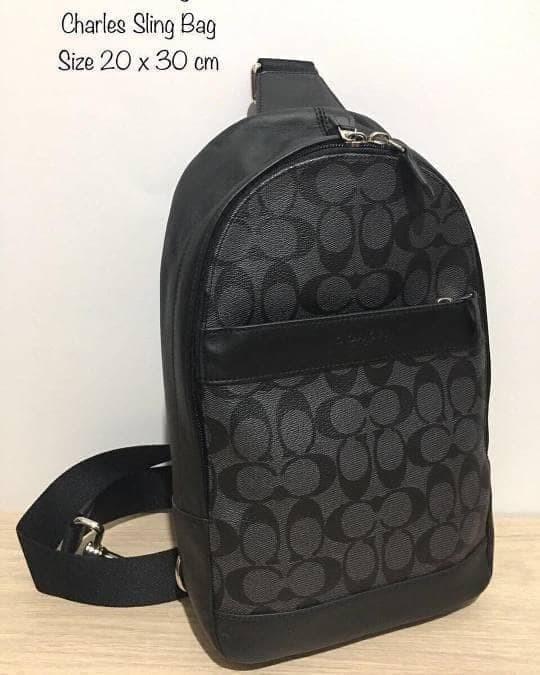 Original Cowok Coach Men Sling Pack Bag Polgan Black Tas Selempang Pr 6cce1e2470