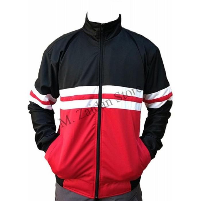 Jual Jaket Pria Tracktop Casual Ultras Premium Best Seller Black Red ... 983cfd411c