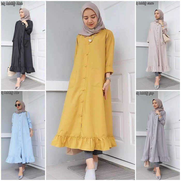 40 Foto Baju Dress Tunik Kekinian