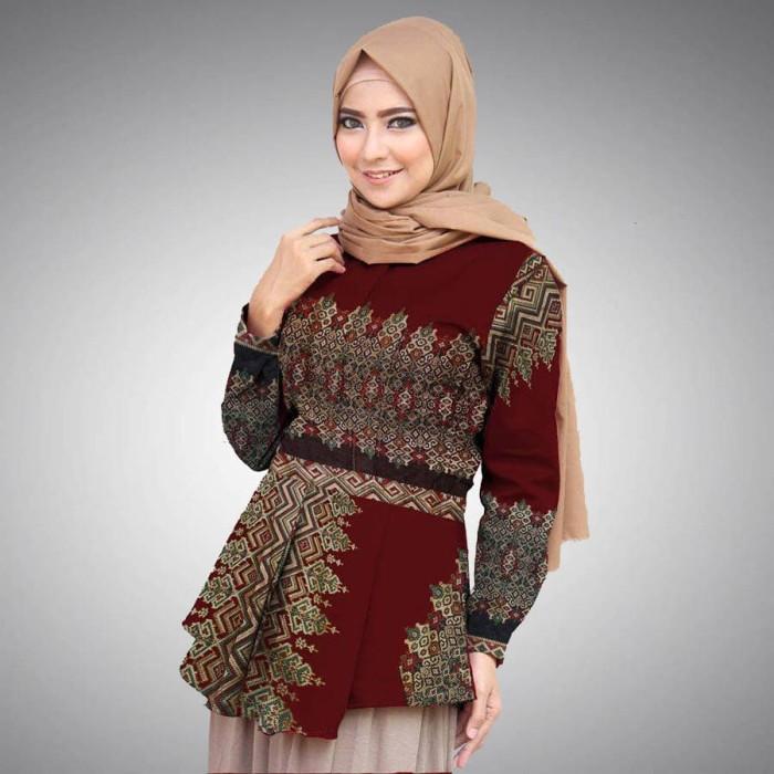 Jual Baju Batik Wanita Dewasa Model 5 - salman12store  e8d354434a