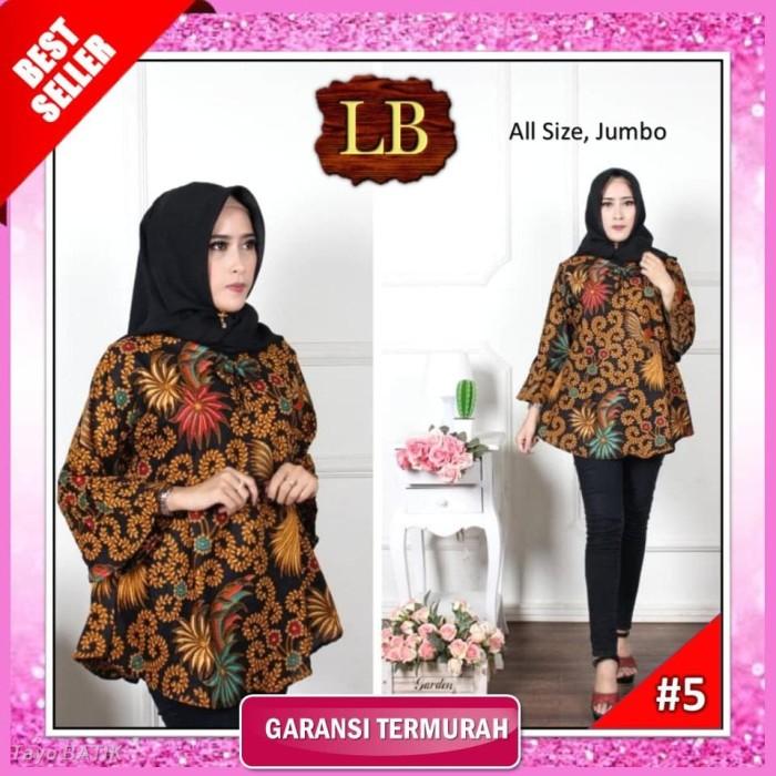 Jual Atasan Batik Cewek Atasan Batik Wanita Blouse Modern Baju Batik ... e38338a18f