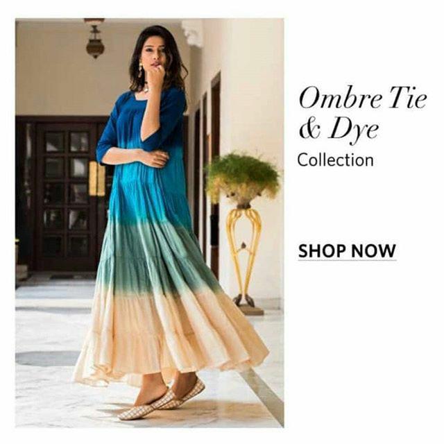 ae45f228e Jual Kajal blue ombre maxi dress import india by aks - Kota Surabaya ...