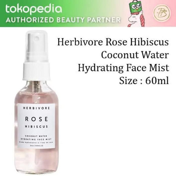 Jual Herbivore Rose Hibiscus Coconut Water Hydrating Face Mist 60ml