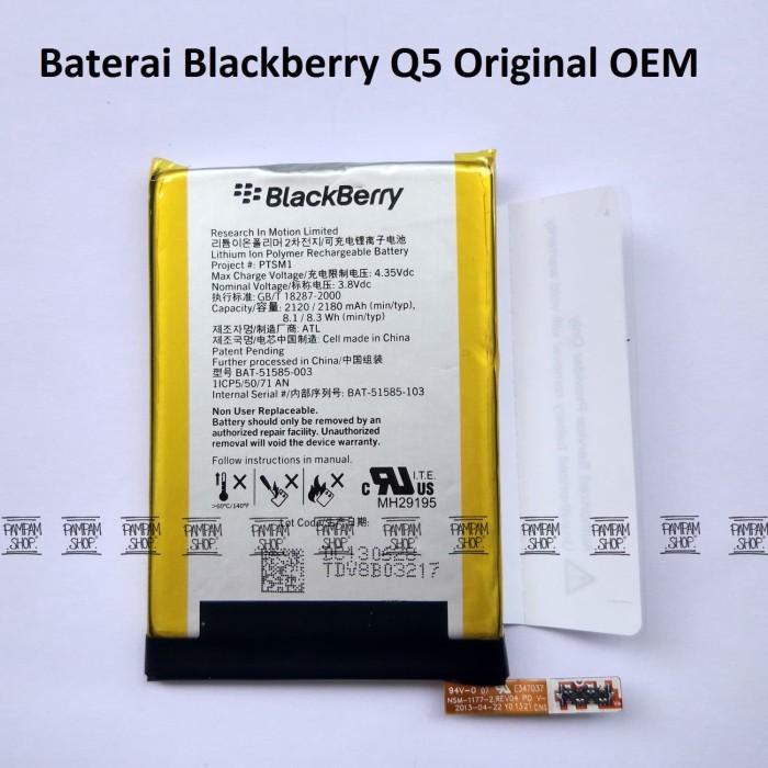 harga Baterai handphone blackberry q5 original oem | bb q 5 batrai battery Tokopedia.com