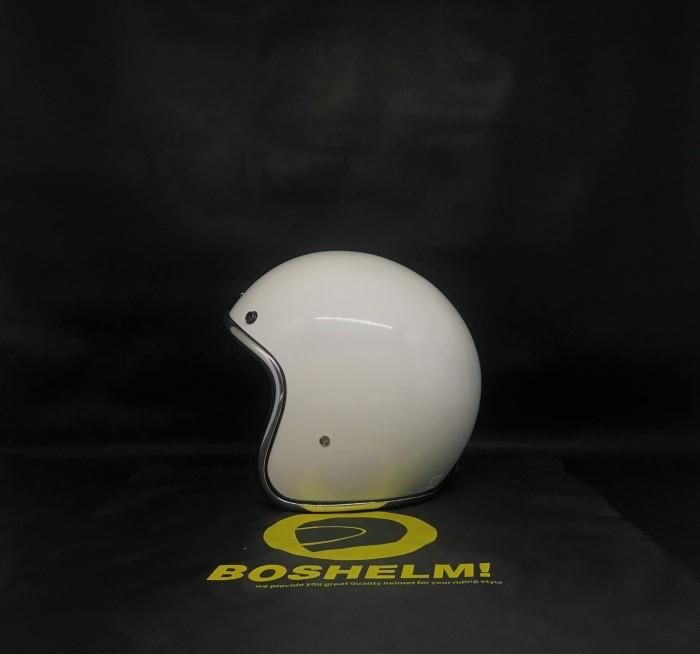 harga Helm retro list chrome putih helm basic list chrome helm half Tokopedia.com