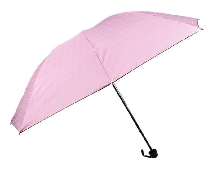 Payung lipat 3 motif kotak-kotak