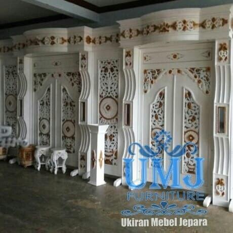 Jual Dekorasi Pelaminan Gebyok Pernikahan Minimalis Modern Terbaru Jepara Kab Jepara Ukiran Mebel Jepara Tokopedia