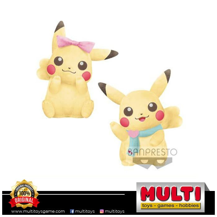 harga Banpresto pokemon girlish pikachu big plush (dijual satuan) Tokopedia.com
