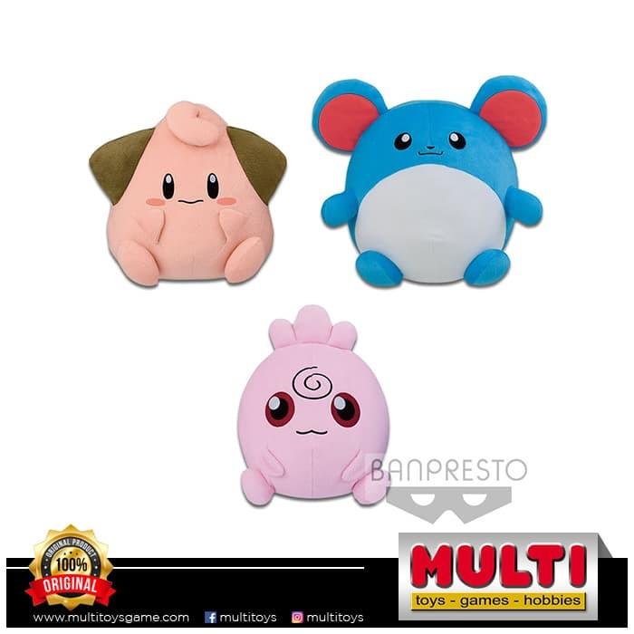 harga Pokemon big round plush (satuan) cleffa - igglybuff - marill Tokopedia.com