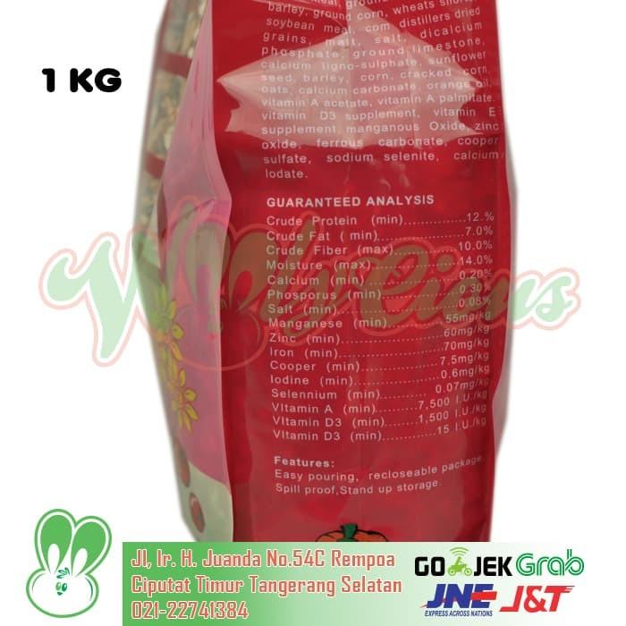 Hamsfood /makanan hamster & gerbil kemasan 1 kg