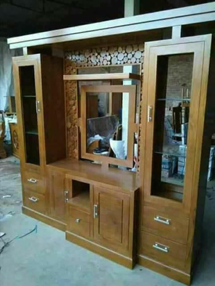 Jual Sekat Ruang Tamu Minimalis Modern Lemari J415 Kab Jepara Produk Kayu Jepara Tokopedia