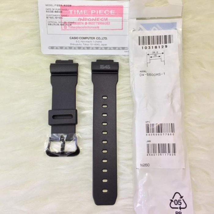 harga Tali jam / rubber strap jam tangan casio g-shock dw-5600ms-1 original Tokopedia.com