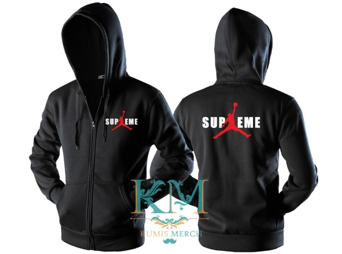 best sneakers 78777 39fbd JAKET SWEATER HOODIE ZIPPER AIR JORDAN X SUPREME