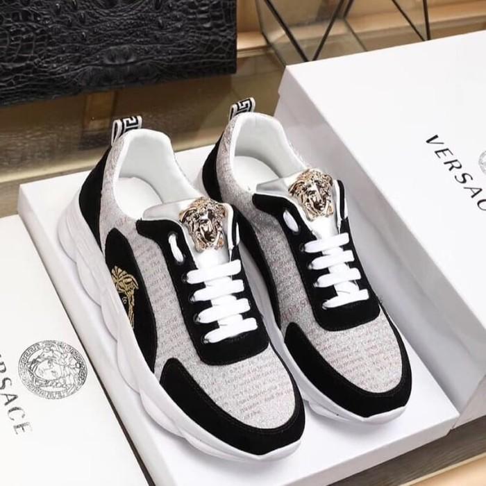 Jual sepatu versace sneaker branded pria cowok kw mirror ... 7bd208738f