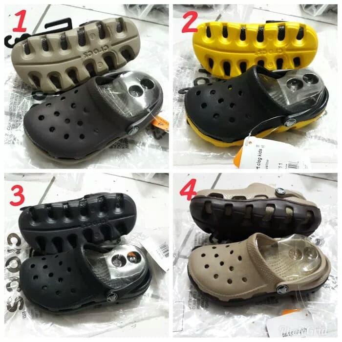 Info Harga SALE Sepatu Crocs Anak Crocs Duet Sport Kids-hitam Tapak ... 2211ed8802