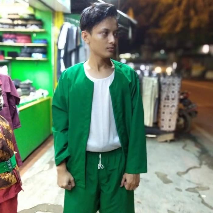 Jual Setelan Baju Pangsi Betawi Dewasa Merah Xl Toko Jindan